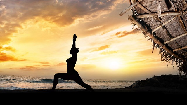 Learn yoga while traveling