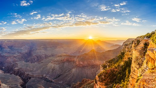 Do not miss the chance to experience the sunrise at Grand Canyon - you will not regret it.