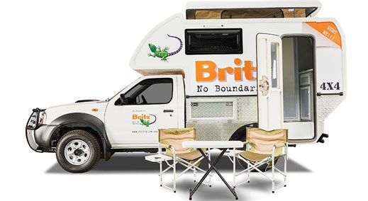 The Britz 4x4 Navi campervan in both spacious and well equipped.