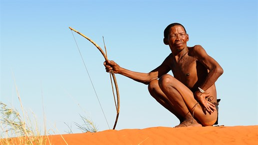 Meet and get to know the San Bushman in Kalahari desert