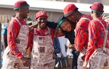 Pantsula dancing in the townships