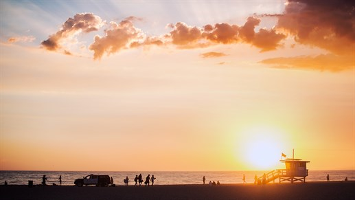 Venice Beach, Los Angeles at sunset