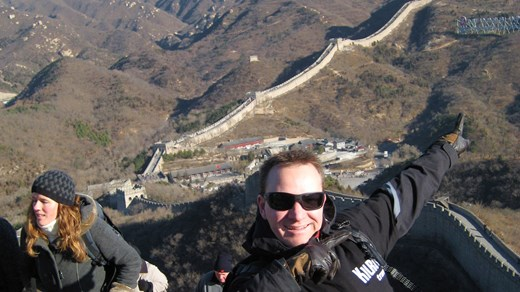 Visit the Great Wall of China, so large that it can be seen from outerspace!