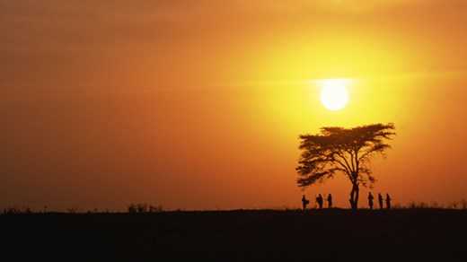 Sunset in Uganda - can it get more beautiful than this?