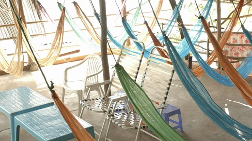Take a break to relax in a hammock.