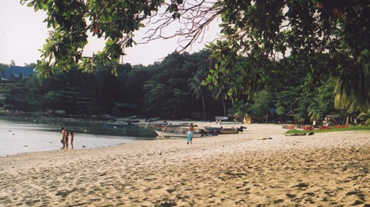 Visit one of the many beaches in Indonesian Borneo