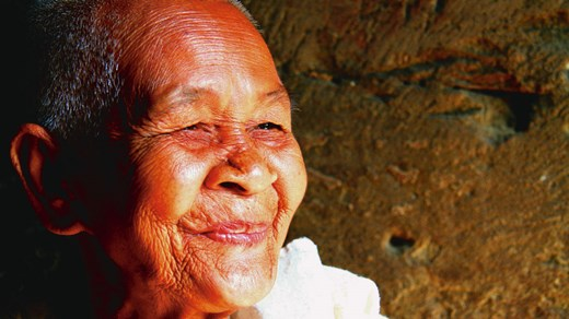 Elderly woman from Cambodia.