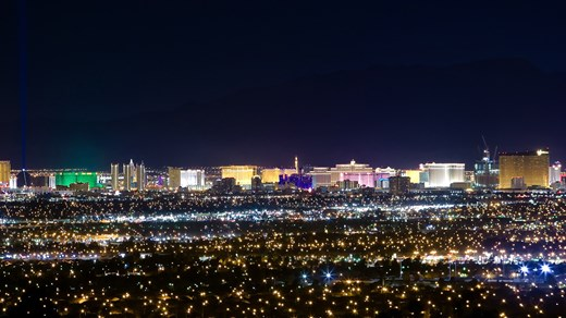 Sin city is an electric paradise.