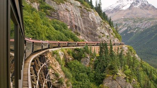 Traveling by train is a great way to explore Alaska