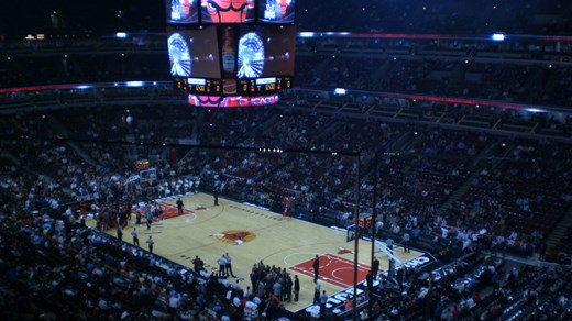 Cheer on the Chicago Bulls at a real NBA season game. Famous players of the past include Michael Jordan and Dennis Rodman.