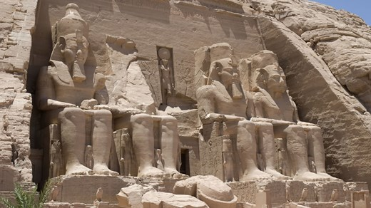 See the amazing tempels at Abu Simbel, Egypt.