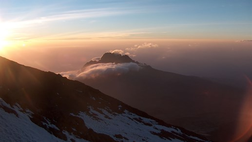 The view on a trekking tour up Kilimanjaro is an amazing experience you'll never forget
