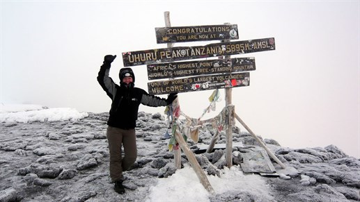 On top of Africa. Trekking up Kilimanjaro was all worth it.