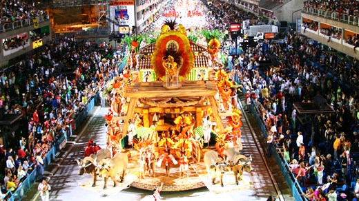 Carnaval in Rio, which takes place in February, is known as the largest and most popular in the world.