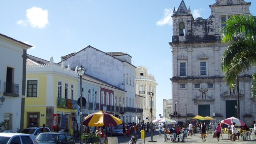 Travel to Salvador and see beautiful old architecture from the colonial era