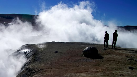 Go hiking by the geysers in San Pedro de Atacama