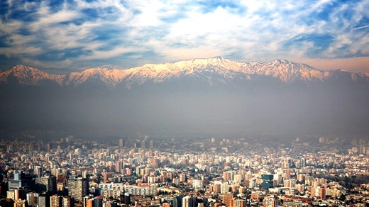Santiago is surrounded by the sea, mountains and beautiful vineyards