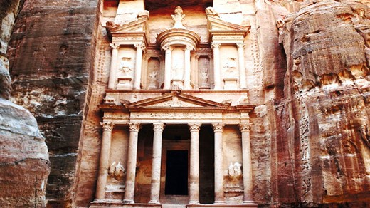 The ancient city of Petra, one of the