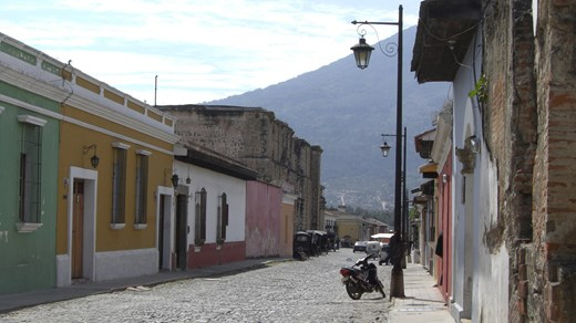 Charming street in Antigua