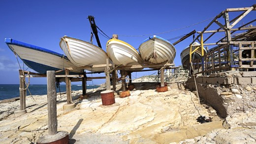 Fishing boats in Beirut