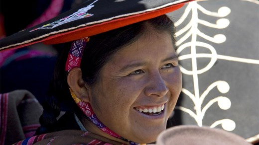 Local woman in the Sacred Valley near Cuzco and Machu Picchu.
