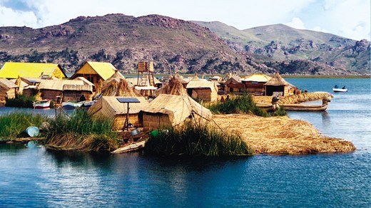 Travel to Lake Titicaca and visit one of the many floating islands built by their locals.