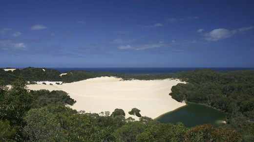 View overlooking an area of Fraser Island.