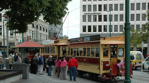Take the tram around Christchurch