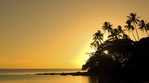 Travel to Samoa and watch the sunset in paradise.