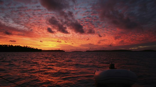 Travel to Tonga and watch the beautiful sunset in this pacific paradise