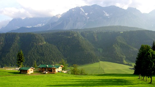 The Alps in Austria can be amazingly green.