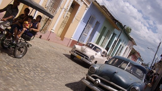 Old American cars are everywhere in the streets of Havana