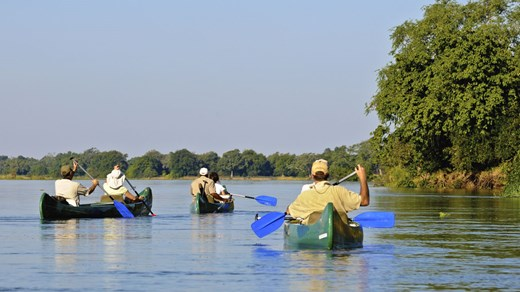 Travel to Zimbabwe in Africa and take a canoe trip down the zambesi river.