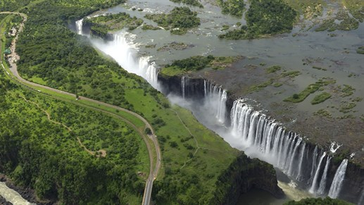 Amazing view over the Victoria Falls