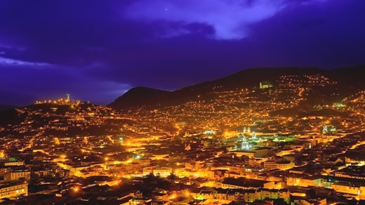 Quito is a fantastic vision by night - the city is a starting point for activities throughout.