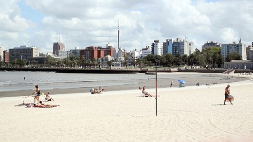 Relax on the beach in Montevideo. Play a game of volleyball or take a dip in the ocean.