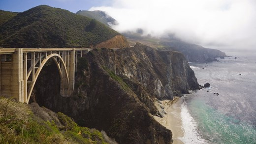 Bixy Bridge is located close to Big Sur. See this amazing place on a road trip along Highway 1