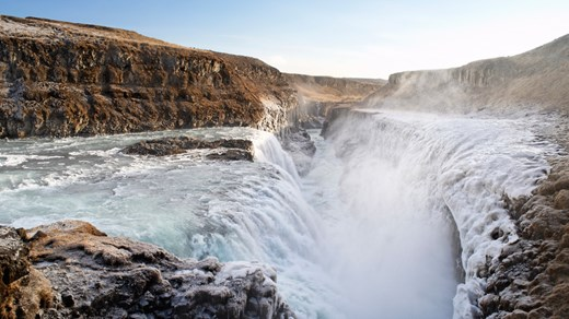 Gullfoss, Iceland. Take your time to visit this spectacular waterfall located near Reykjavik