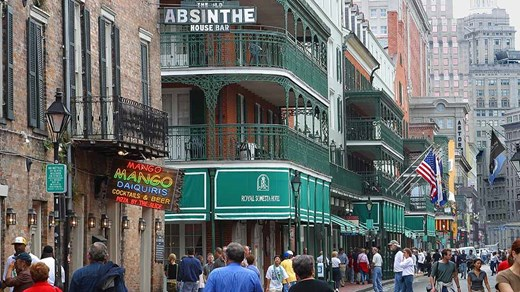French Quarter, New Orleans - Famous for it its balconies