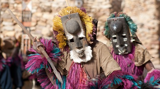 The tribal masks in Mali