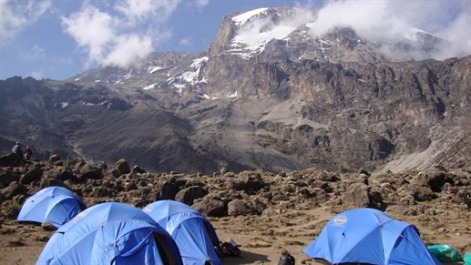 Trekking up Kilimajaro will give you some nights with amazing surroundings