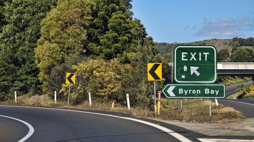 Byron Bay, next exit!