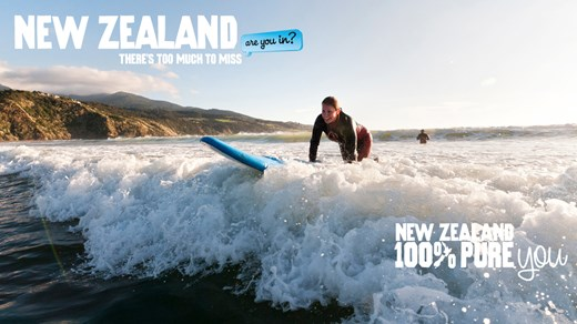 Waves take on a whole new meaning once you've done your time at surfing school in New Zealand