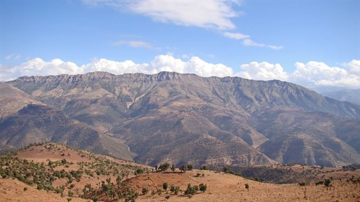 Great view when trekking in Morocco