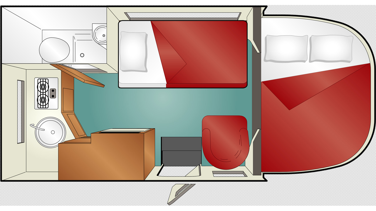 Compact C-19 Cruise America motorhome - Rent a motorhome