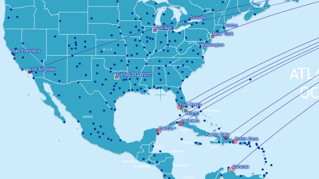 Flight Route Map Fly With Us PSA Airlines Ba Route Map Usa Google - Us airways travel map