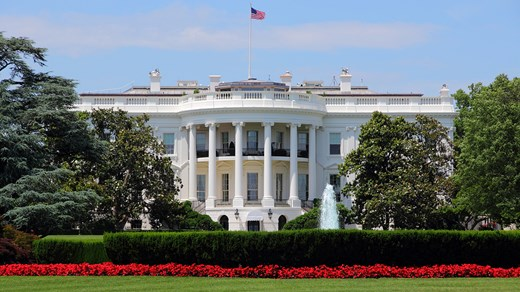 The White House, home of the president and one of the district's iconic landmarks.