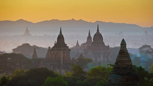 Sunrise over Bagan in Myanmar