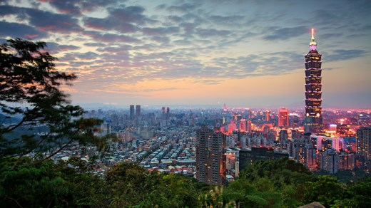 Lovely city view of Taipei, the capital of Taiwan.