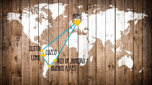 Multi stop trip in South America with KILROY